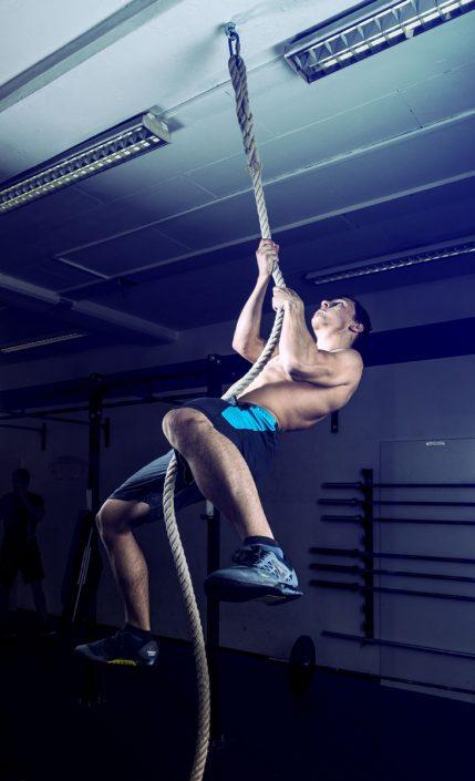 Luca, Ropeclimb, CrossFit AeniPontum Innsbruck